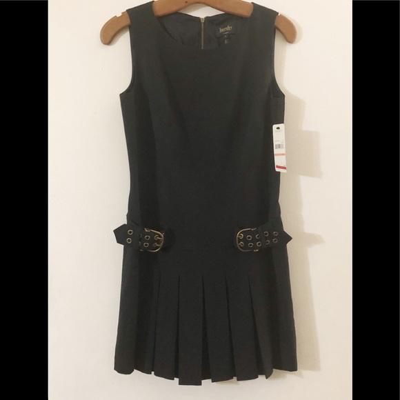 Laundry By Shelli Segal Dresses & Skirts - NWT Little Black Dress drop waist buckles pleats